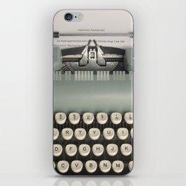 American Typewriter iPhone Skin