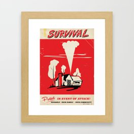 Retro Nuclear protect poster Framed Art Print