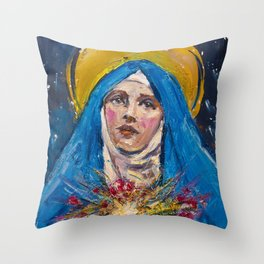 Ecstasy VII. The Annunciation Throw Pillow