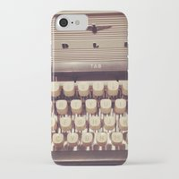 typewriter iPhone & iPod Cases featuring typewriter by Bunny Noir
