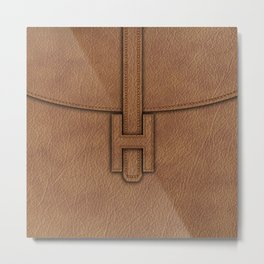 leather bag trends Metal Print
