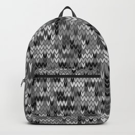 Heathered knit textile 4 Backpack
