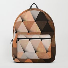 Triangles Brown Gray Backpack