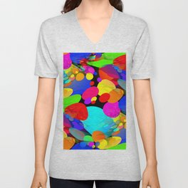 Bouncing Off the Walls - Abstract Unisex V-Neck