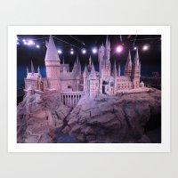 hogwarts Art Prints featuring Hogwarts by Samantha Van Prooyen