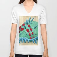 nausicaa V-neck T-shirts featuring crystal ohmu by terastar