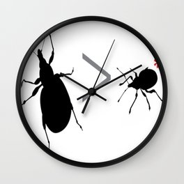 Lesser of Two Weevils Wall Clock