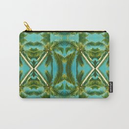Palm Tree Kaleidoscope (on blue sky) #2 Carry-All Pouch