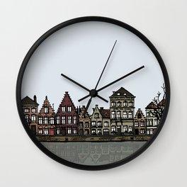 Bruges sketch Wall Clock