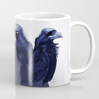 raven Mugs featuring .Raven by Isaiah K. Stephens