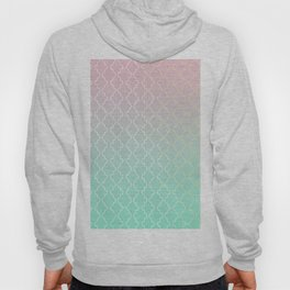 Moroccan pattern with mint, pink and gold Hoody