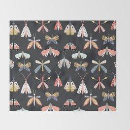 Moths and Butterflies Throw Blanket