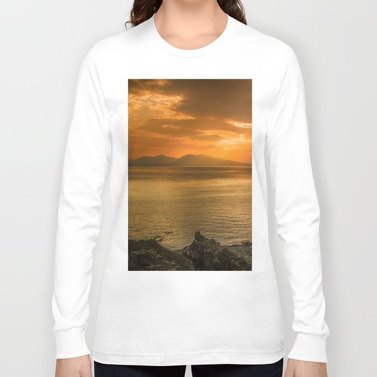 Sunset over Lismore Island of the shores of Oban in the west of Scotland. Long Sleeve T-shirt