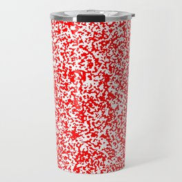 Tiny Spots - White and Red Travel Mug
