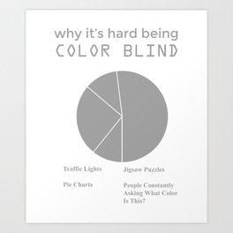 Color Blind Pie Chart Print Art Print