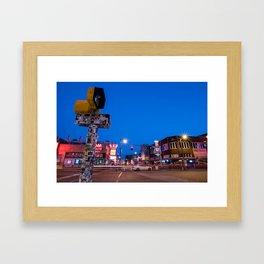 Quiet Beale Street Framed Art Print