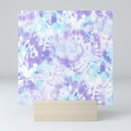Blue and Purple Tie-Dye Mini Art Print