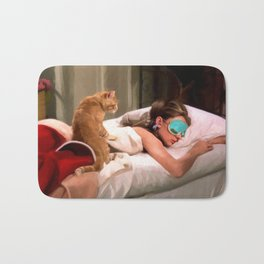 Audrey Hepburn #4 @ Breakfast at Tiffany's Bath Mat