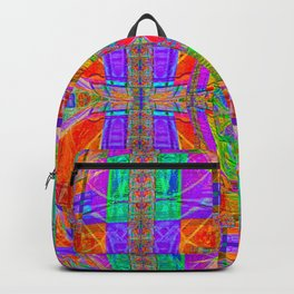 Geometric Futuristic Quilt 1: Space Cape Backpack