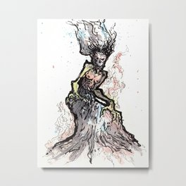 Elemental Witch Metal Print
