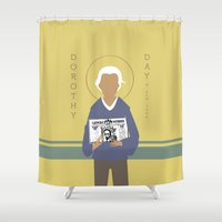 dorothy Shower Curtains featuring Dorothy Day by Sarah Duet