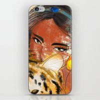 jasmine iPhone & iPod Skins featuring Jasmine by Camila Marina Dos Anjos