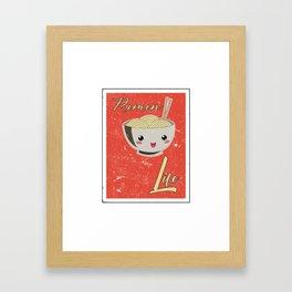 Ramen Life Japanese Noodles Vintage Retro Style Framed Art Print