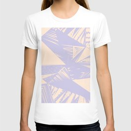 Modern lilac ivory violet geometrical shapes patterns T-shirt