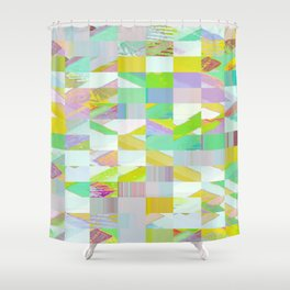 Pixel Dust Muted colors Shower Curtain