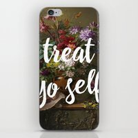 treat yo self iPhone & iPod Skins featuring treat yo self by ecce