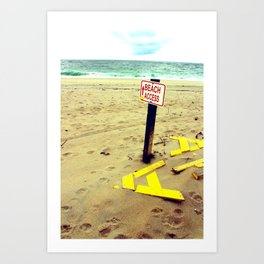 Beach Access Art Print