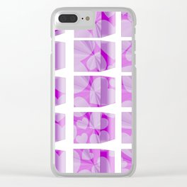 blocks & hearts Clear iPhone Case