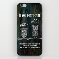 Two Hoots iPhone & iPod Skin