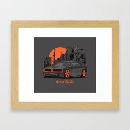Speed Hunter Framed Art Print