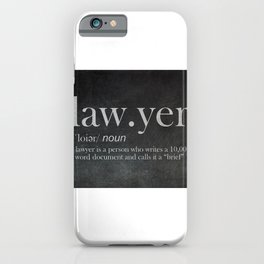 Lawyer Attorney Advocate iPhone Case