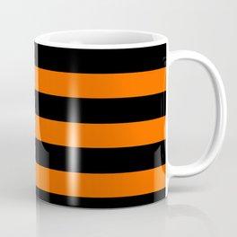 Black & Orange Stripes Coffee Mug