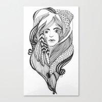 bohemian Canvas Prints featuring Bohemian by DesignBubble