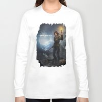 tomb raider Long Sleeve T-shirts featuring Rise of the Tomb Raider - v01 by trixdraws