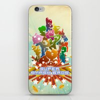 smash bros iPhone & iPod Skins featuring Smash! by Jesse Musto