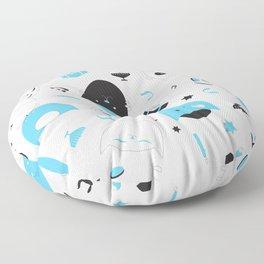 Hannukats White Floor Pillow