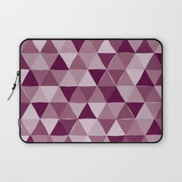 Purple Triangles Laptop Sleeve