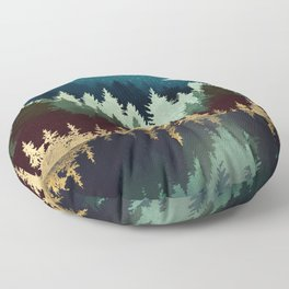 Star Forest Reflection Floor Pillow