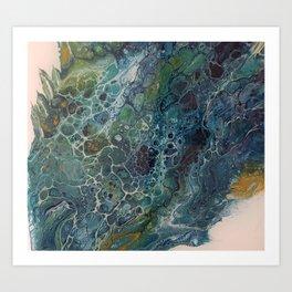 Foaming wave Art Print