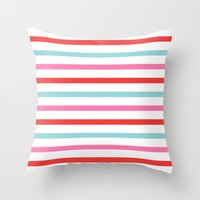 stripe Throw Pillows featuring Stripe by Andrew Jonathan Baker