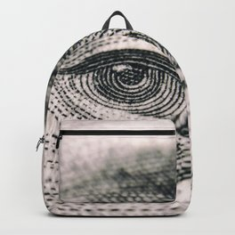 Benjamin Franklin Eye US dollar engraving Backpack