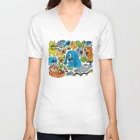 ice cream V-neck T-shirts featuring Ice Cream by Chris Piascik