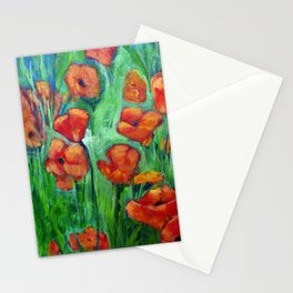 Study of Poppies II Stationery Cards