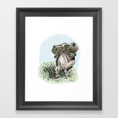 Pack Mule Framed Art Print
