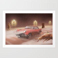 Romantic winter time Art Print
