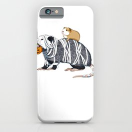 Halloween Guinea Pig and Opossum iPhone Case